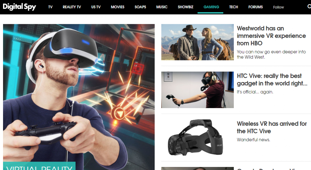 Digital Spy - Best Virtual Reality Websites