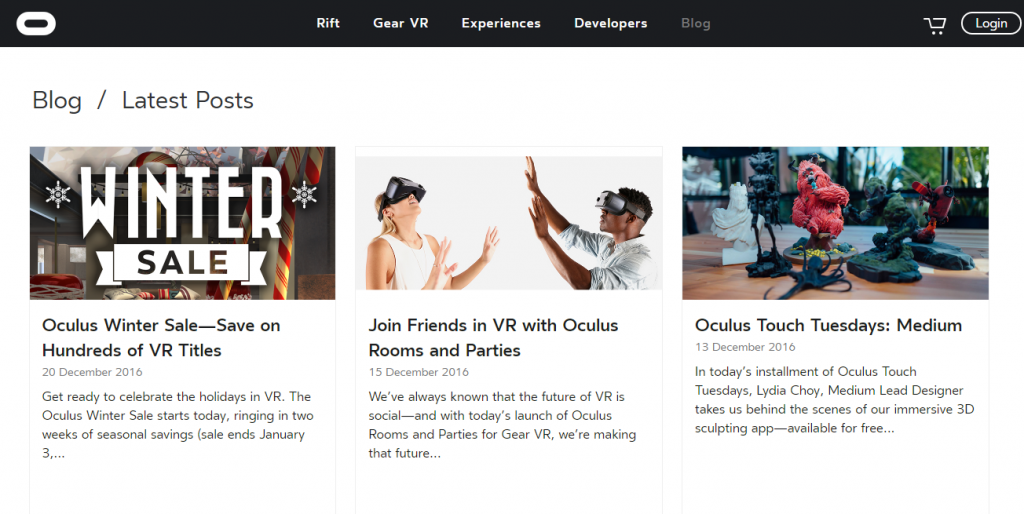 Oculus - Best Virtual Reality Websites