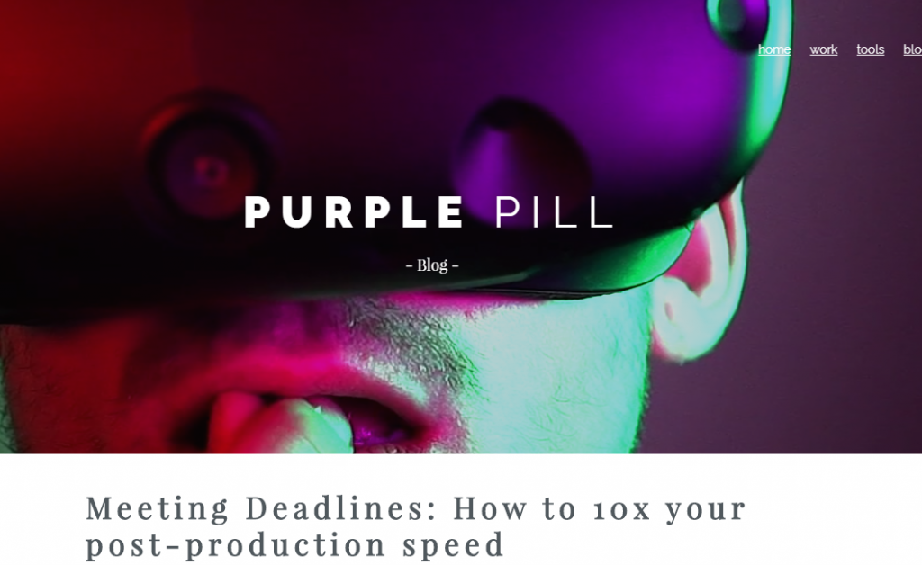 Purple Pill - Best Virtual Reality Websites