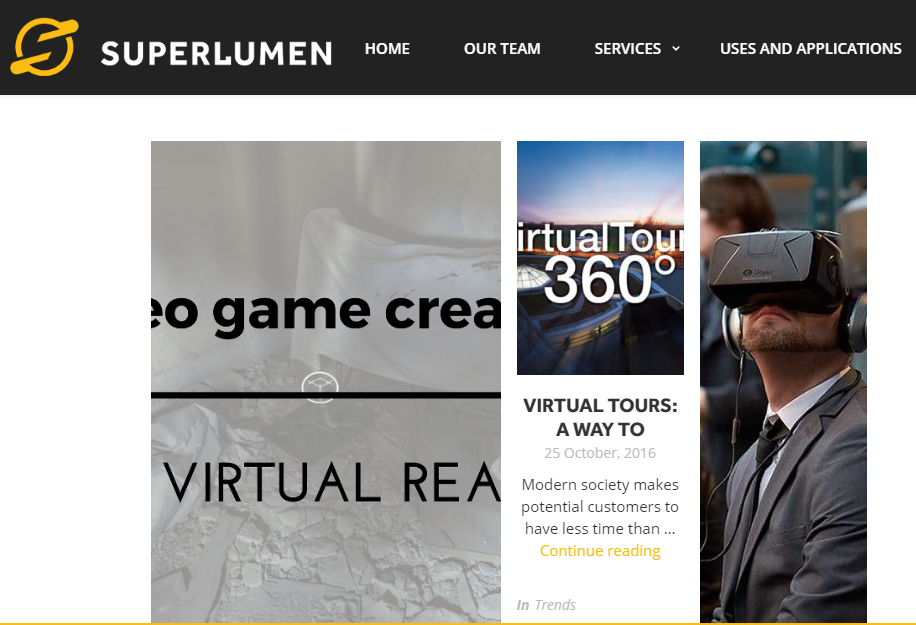 Super Lumen - Best Virtual Reality Websites