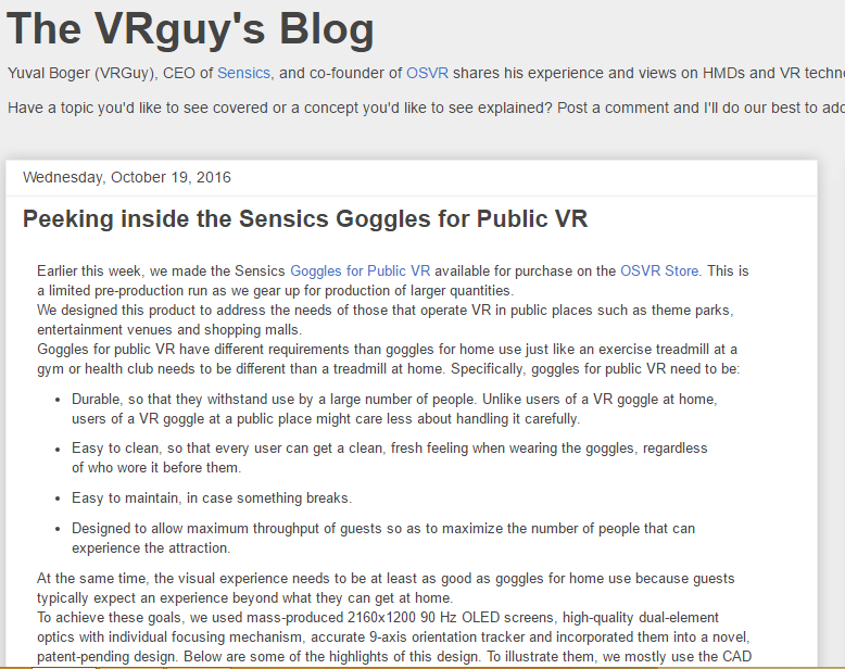 The VRguy's Blog - Best Virtual Reality Websites